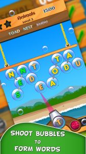 Word Bubbles Game App
